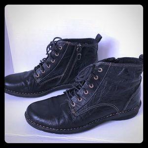 Clarks Nikki North Boots Black 8.5M Leather Zip